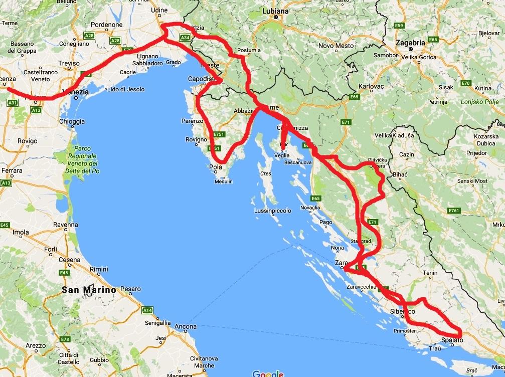 Cartina Della Croazia E Slovenia.Slovenia E Croazia In Moto 14 Gg Itinerari Itinerali
